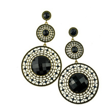 # Q440  European and American popular style Exaggerated restoring ancient ways round long earrings B10(China (Mainland))