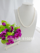 Free Shipping!!!Nature freshwater pearl necklace(China (Mainland))