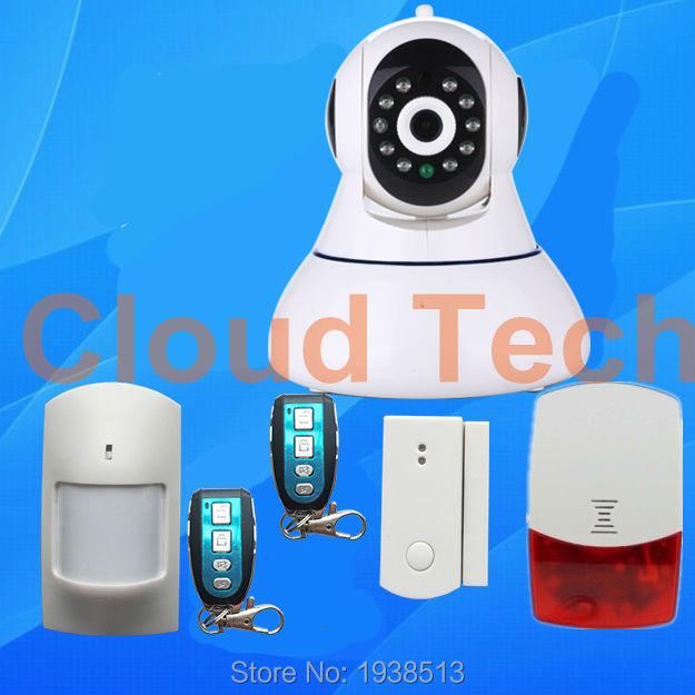 ISO Android APP control 868MHZ GSM alarm system IP camera,PIR sensor,surveillance camera WIFI security GSM camera alarm system(China (Mainland))
