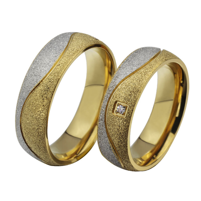 Alliance Ring for Lover 2 Colors Gold and Silver Wedding Band Quality Stainless Steel Engagement Ring for Women Men Wholesale(China (Mainland))