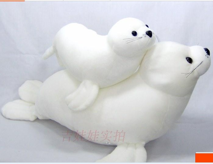Plush toys sea lions stuffed toy white high quality sea lions doll birthday gift about 50cm(China (Mainland))