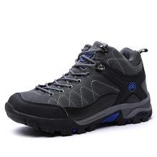 חדש גברים מגפי חורף עם פרווה 2019 חם שלג מגפי גברים חורף מגפי נעלי עבודת גברים הנעלה אופנה גומי קרסול נעלי 39-45(China)