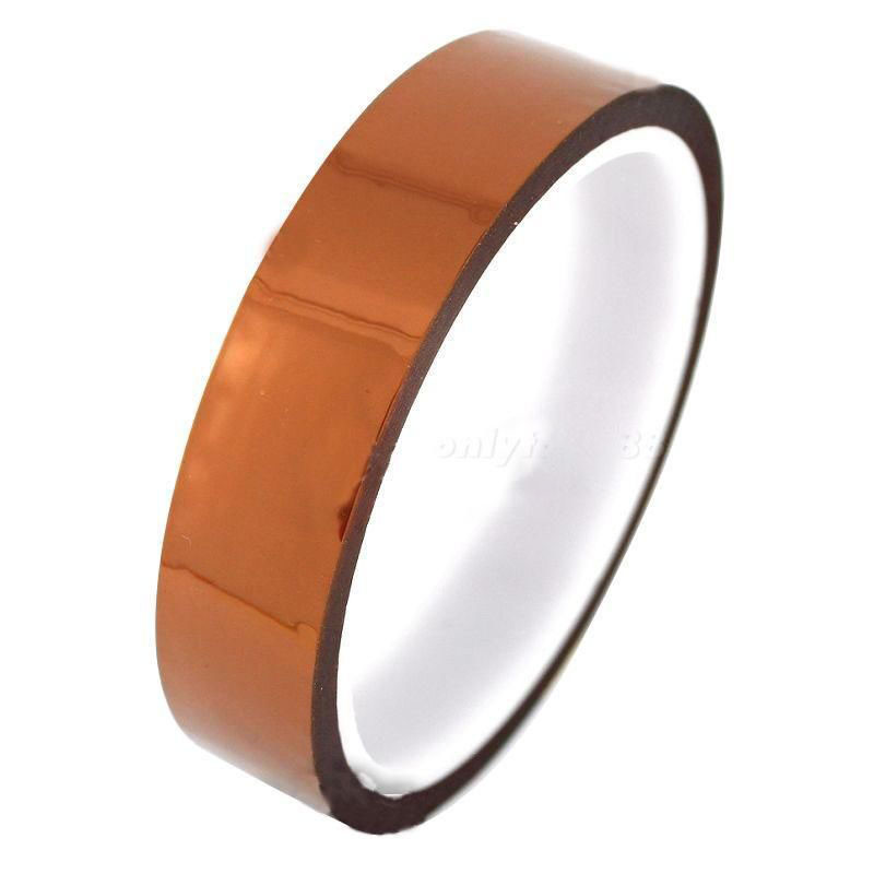 New Durable 20mm 100ft High Temperatur Resistant Tape Home Office Kitchen Anti-heat Polyimide Kapton Tape(China (Mainland))