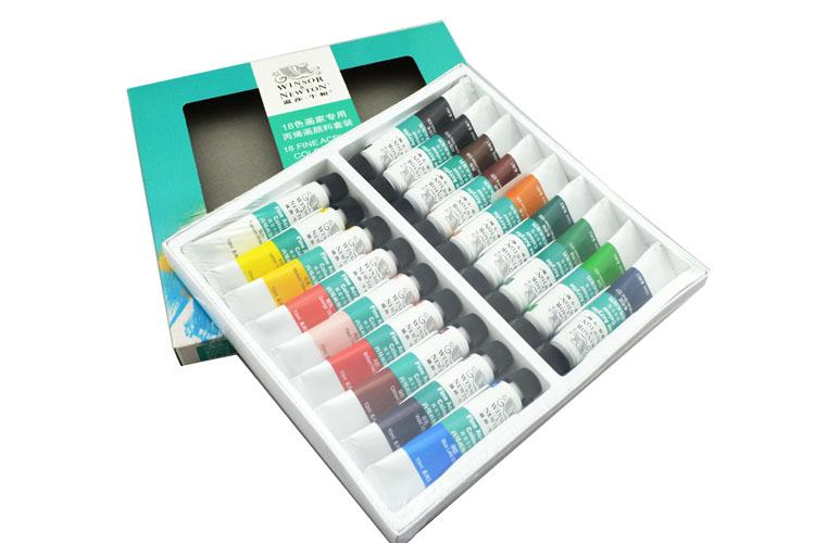 Winsor newton 18 colours acrylic paints fine painting for Acrylic mural paint supplies