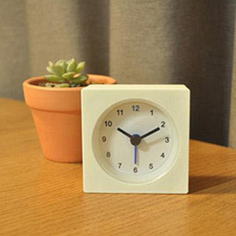 1pc IKEA Simple Style Mini Alarm Clock Square Shape Bedside Study Room Table Clocks 7x7x3cm VACKIS White(China (Mainland))