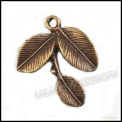 90pcs/lot, Hot Sale New Style Leaf Shape Charms Alloy Antique Bronze Tone Metal Pendant Fit Jewelry DIY 27*22*3mm 142253(China (Mainland))