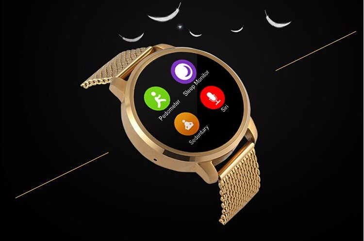 2016 New Smart Watch V360 smartwatch for Iphone Android Phone Smart Wake-Up Gesture Clock Stainless Steel Wristwatch MTK2502