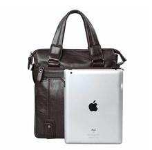 Business bag men genuine leather Man bag handbag men messenger bags cross section of 14 inch