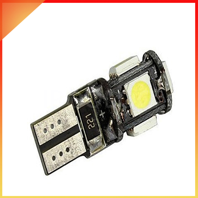 Wholesale Canbus T10 5smd 5050 LED car led Light Canbus W5W 194 5050 SMD Error Free White Light Bulbs(China (Mainland))
