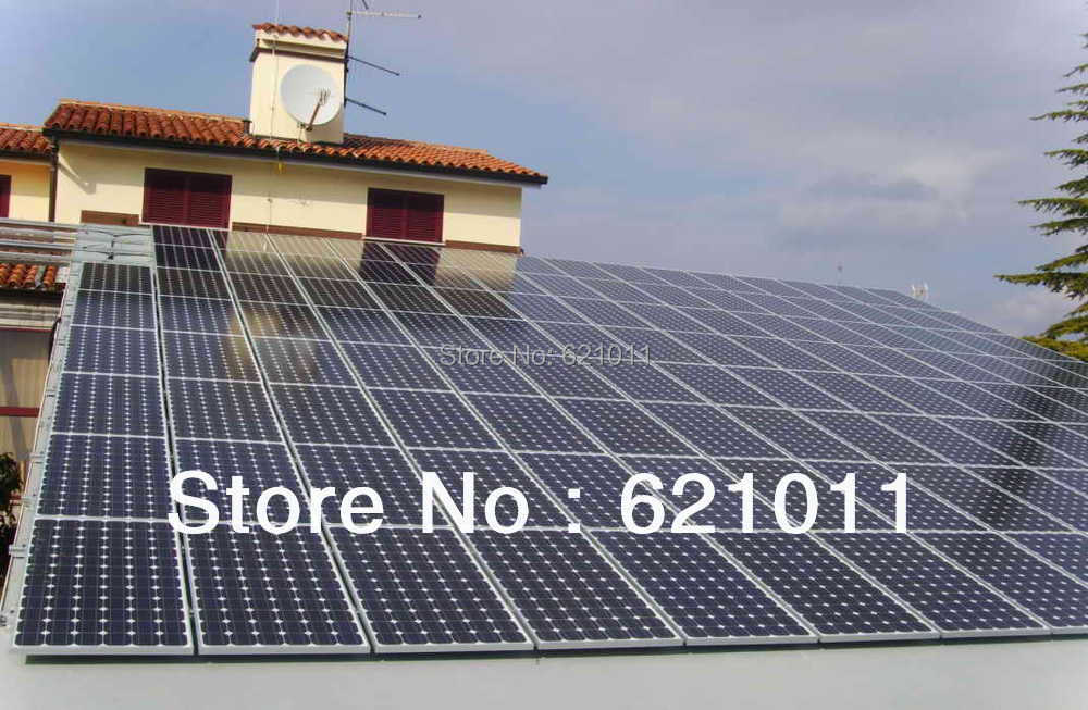 20KW solar system,home solar power system include solar panel, inverter and other parts, battery bank can be added(China (Mainland))
