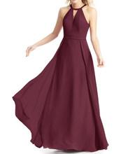 Бордовые Платья для подружки невесты, длинное шифоновое платье для свадебной вечеринки 2020(China)