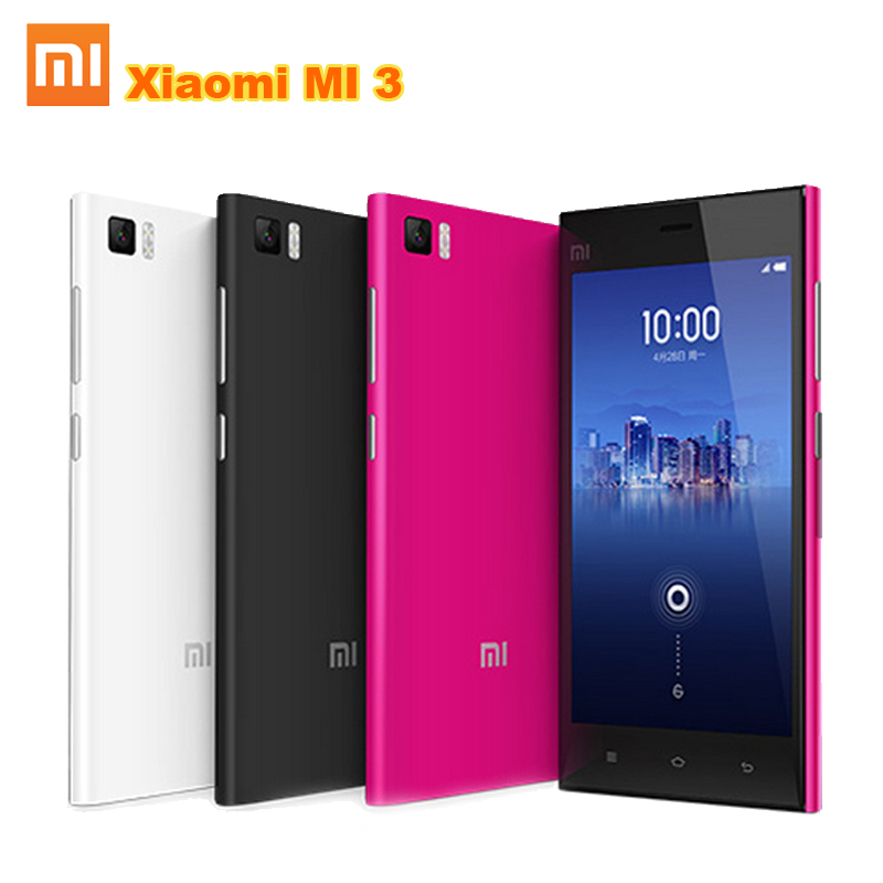 "100% original Xiaomi Mi3 m3 Mi 3 16GB Quad Core WCDMA Mobile Phone Android 4.4 5.0"" IPS 1920x1080 2GB RAM Snapdragan 800 13.0MP(China (Mainland))"