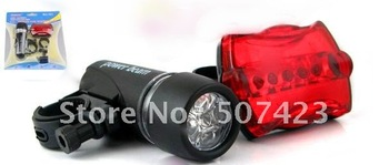 free shipping manufactory wholesale price for 1set(10pcs) led bicycle safety light with Headlight and Rear light