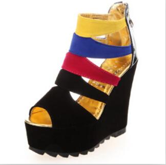 ENMAYER Fashion Open-toed Women pumps Sexy round Toe Party Wedding High Heel pumps Large Platform pumps Ladies pumps Shoes <br><br>Aliexpress