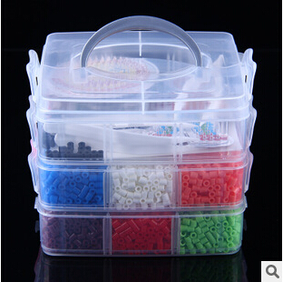1 set/lot 3 Layers Perler/hama 5mm Perler Beads Funny Pegboards box Children Educational Toys Perler Beads Jigsaw puzzle<br><br>Aliexpress