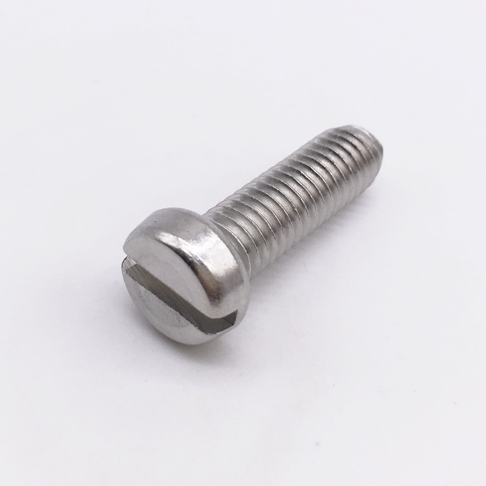Machine Screw M4 Cheese Head Slotted Right Hand Threads Metric Length 14 mm Stainless Steel<br><br>Aliexpress