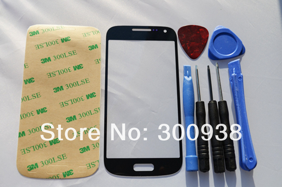 Black Replacement Front Touch Screen Outer Digitizer Glass Lens For Samsung Galaxy S4 Mini I9190 i9192 i9195 With Free Tools(Hong Kong)