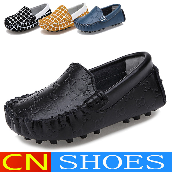 Genuine Leather Children's Shoes Spring Summer Loafers Kids Boat Shoes Girls Boys Fashion Casual Sneakers Single Sapato Infantil(China (Mainland))