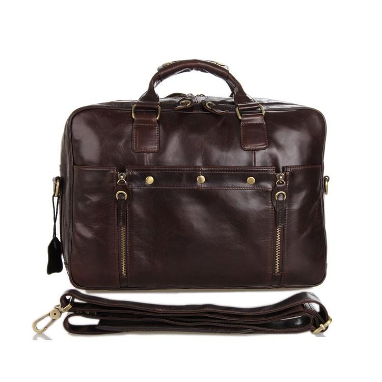 100% Genuine  leather bags 2014 New laptop leisure men messenger bags briefcase man shoulder tote business handbag vintage bag