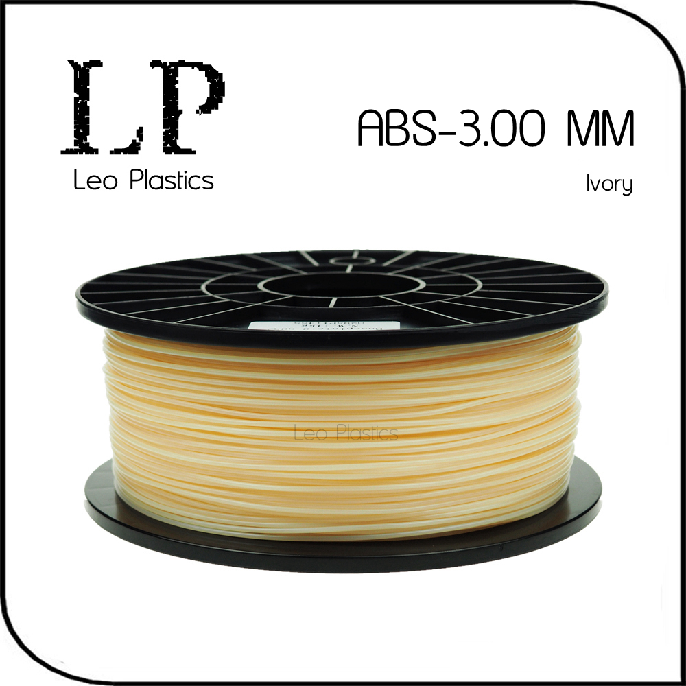 Worldwide Fast Cheap Delivery Within 7 Days Direct Manufacturer 3D Printer Material 1 kg 2.2 lb 3mm Ivory ABS Filament(China (Mainland))