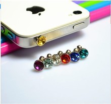 2015 New diamond Dust Plug For HTC For Samsung Galaxy s6 For iphone 6 plus 5s 4S 5 6 dust plug 3.5mm earphones phone accessories