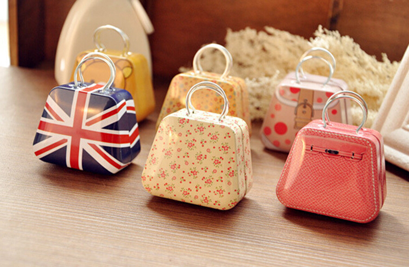 Hot Gift Mini Metal Capsule Handbag Coin Bag Storage Candy Jewelry Case Box(China (Mainland))