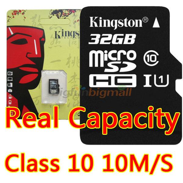 Kingston Micro Sd Card 32gb Class 10 Memory Card Cards Cartao Memoria, Mini Sd Flesh TF Card Micro Sd 64gb 32GB 16GB 8GB Retail(China (Mainland))