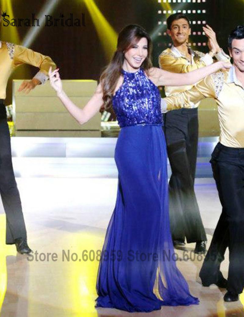 Celebrity royal blue dress