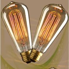 Vintage Edison Clear Glass Light Bulbs 40W E27 Bulbs incandescent Silk Light bulb Indoor/Outdoor Decoration 110V 220V(China (Mainland))