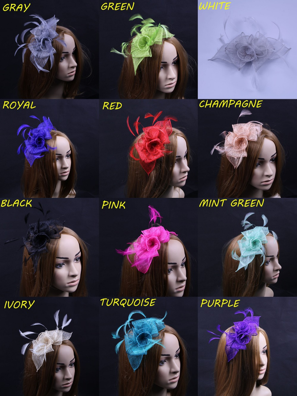 FREE SHIPPING 20pcs/lot High Quality Fascinator Hairclip Headband Hair Accessories(China (Mainland))