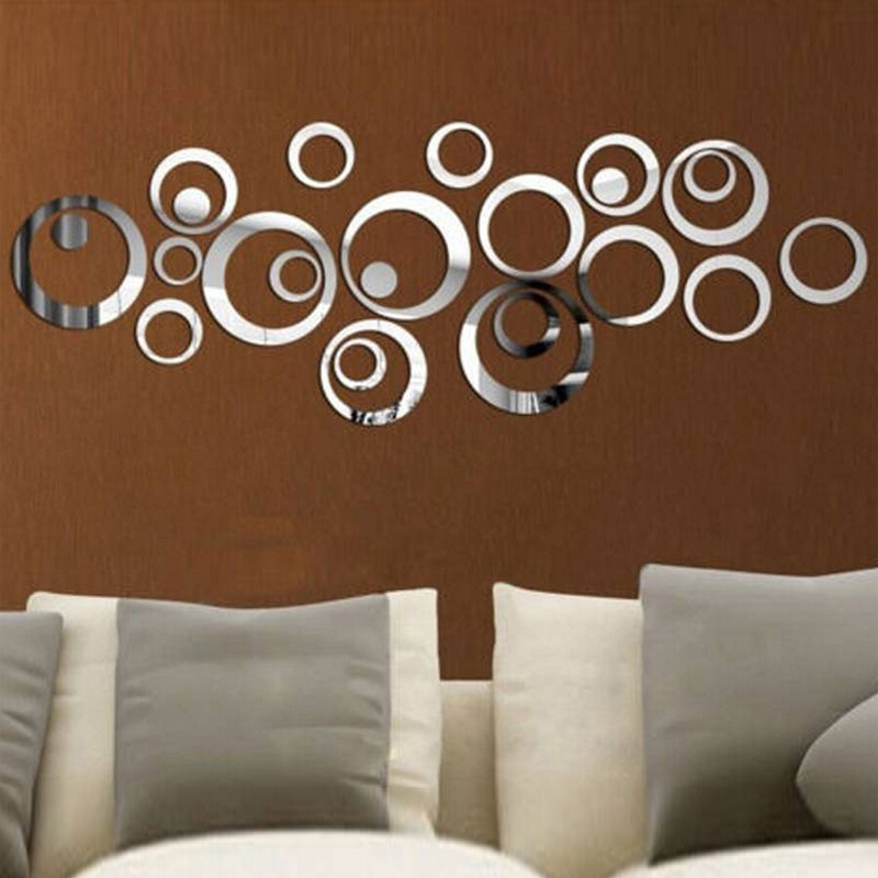 2016 new 3d diy acrylic mirror wall stickers home decor sticker most modern plastic pack nine sale vinilos paredes free shipping(China (Mainland))