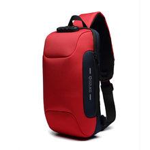 OZUKO 2019 nouveau sac à bandoulière multifonction pour hommes Anti-vol épaule Messenger sacs mâle étanche court voyage sac de poitrine Pack(China)