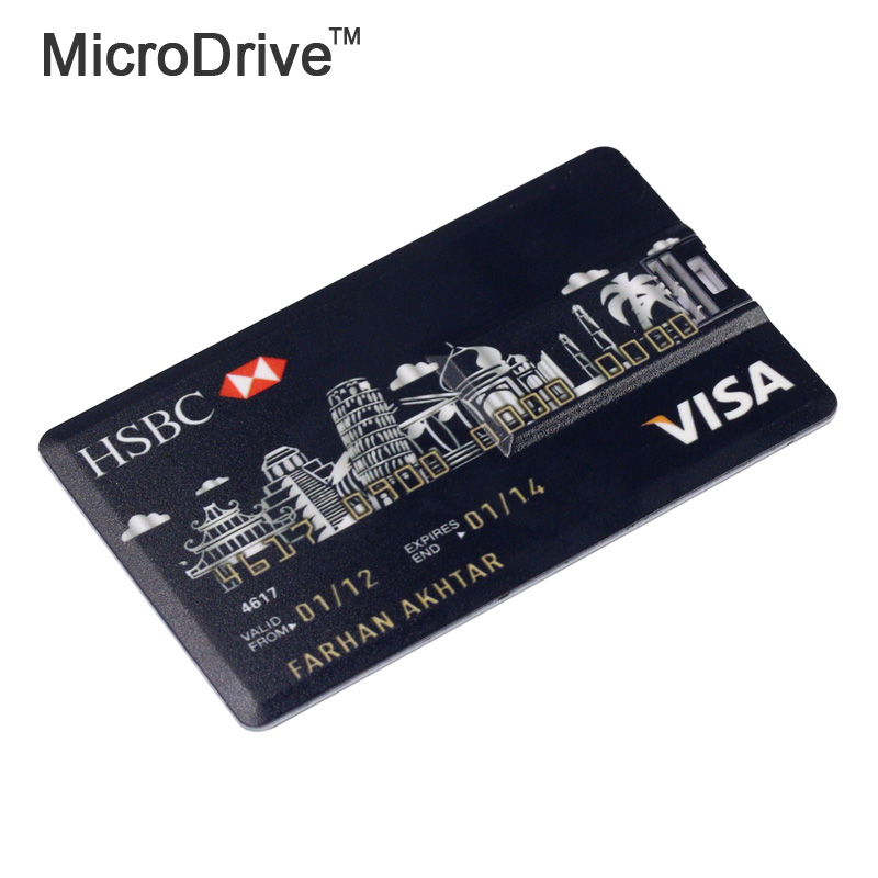 Retail novelty Standard Chartered master Card shape USB Flash Drives 64GB pen drives memory stick 16GB freeshipping(China (Mainland))