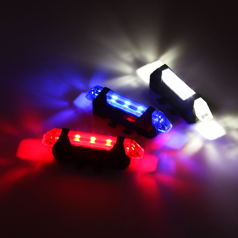Portable Rechargeable LED USB Cycling Bike Tail Light Taillight MTB Safety Warning Bicycle Rear Seat Light Lamp Bycicle Light(China (Mainland))