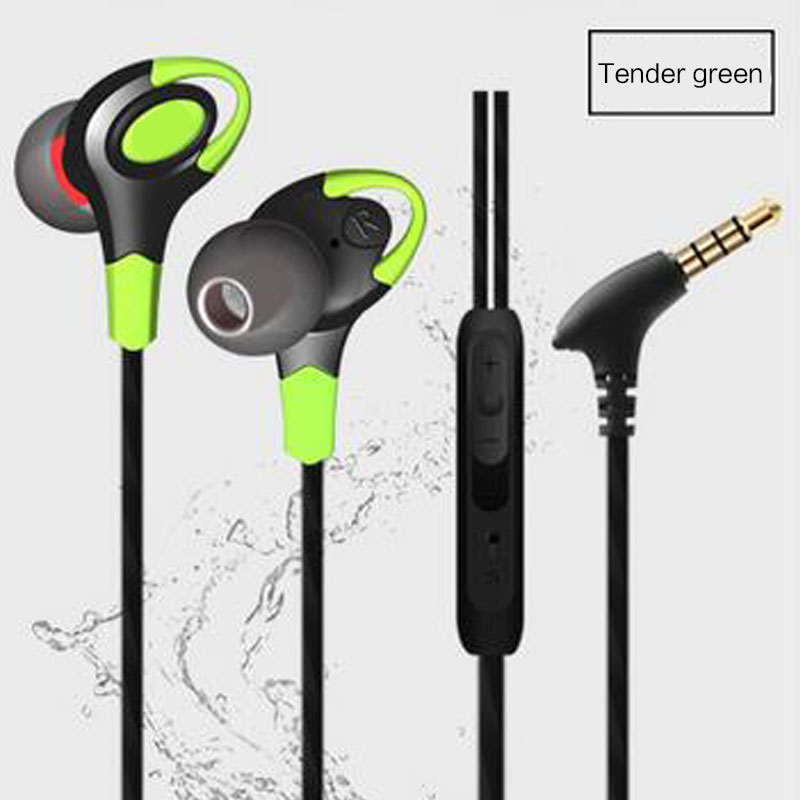 Earphones Sport Running Headphones HIFI Stereo Bass HD Sound Quality Headset Earbuds Handsfree With Mic for Cellphone MP3 Laptop