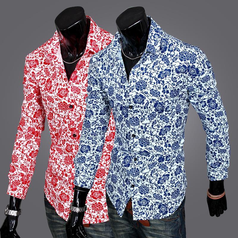 Mens long sleeve printed shirts custom shirt for Custom printed long sleeve t shirts