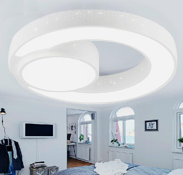 new design 48w iron led ceiling light acrylic modern round. Black Bedroom Furniture Sets. Home Design Ideas