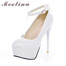 Buy Meotina High Heels Women Shoes White Bridal Shoes Sexy Ultra High Heels Night Club Woman Platform Heels Ladies Pumps Big Size 42 for $23.46 in AliExpress store