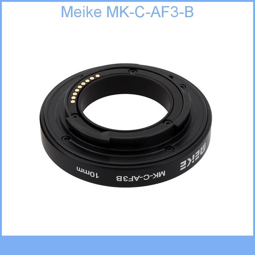 Meike MK-C-AF3-B Plastic Auto Focus AF Macro Extension Tube DG Set 10mm 16mm for Canon EOS M M2 Mount Micro DSLR Camera<br><br>Aliexpress