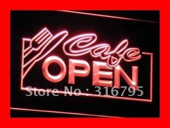 i011-r OPEN Cafe NR Restaurant Business LED Neon Light Sign