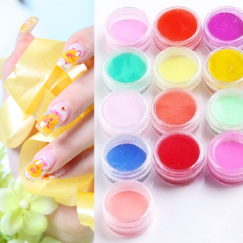 Newest fashion 18 Colors Nail Art Tips UV Gel Powder Dust Design 3D Decoration Manicure # M01202