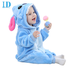 IDGIRL New Baby Boy Clothes Cotton Flannel Lining Quilted Girl Jumpsuit Cartoon Animal Baby Rompers Baby Clothing JY0527(China (Mainland))