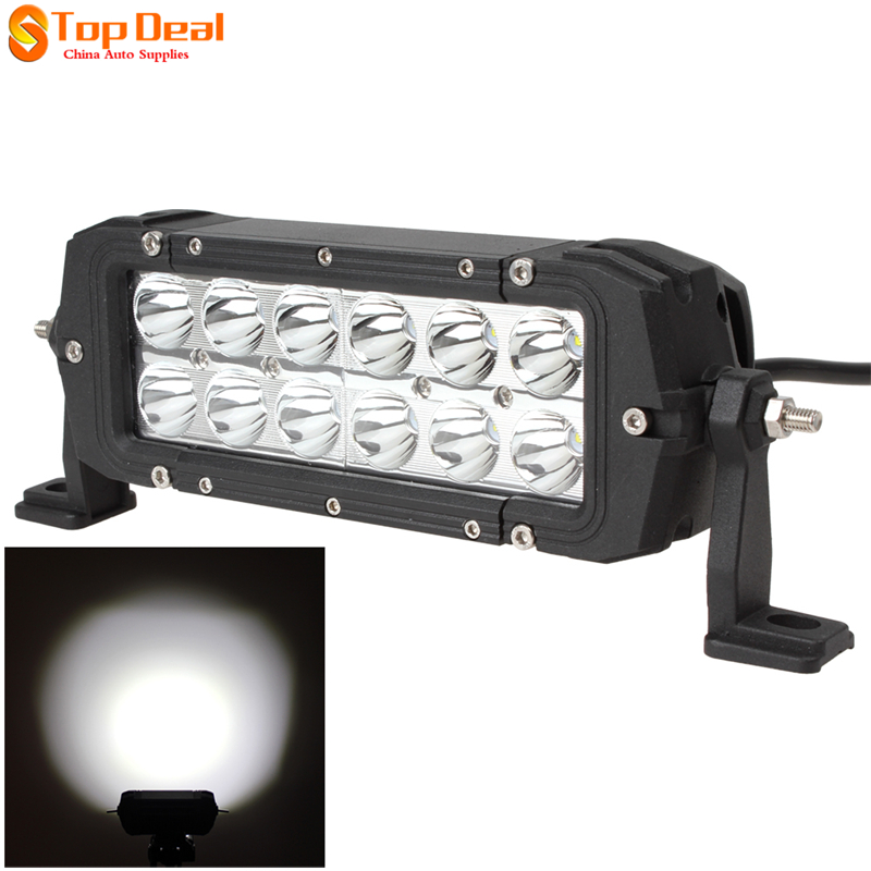 7'' 36W Led Work Light Bar Spot Beam Indicators Motorcycle Driving Offroad Boar Car Tractor Truck SUV ATV 12V IP67 - Top Deal Auto Supplies store