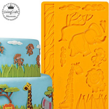 New Durable DIY 3D Silicone Mold Cake Animals Fondant Moulds for Cake Decorations Tool Embossing Mold Moule Gateau(China (Mainland))