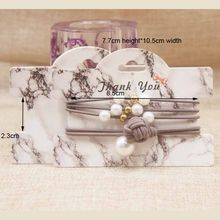 FeiLuan 20 pc Marbe תכשיטי הגעה חדשה חבילה & תצוגת כרטיסי רב שיער קליפ/שיער אביזרי תכשיטי תצוגת נייר תג כרטיס(China)