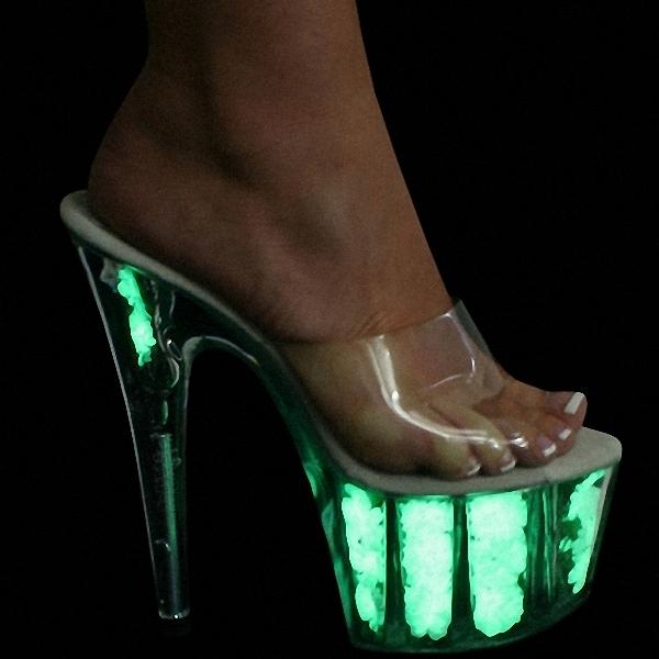 Фотография Women Fashion Sandals Summer Sexy High-heeled Slippers Platform Rhinestone Sandals High-heeled