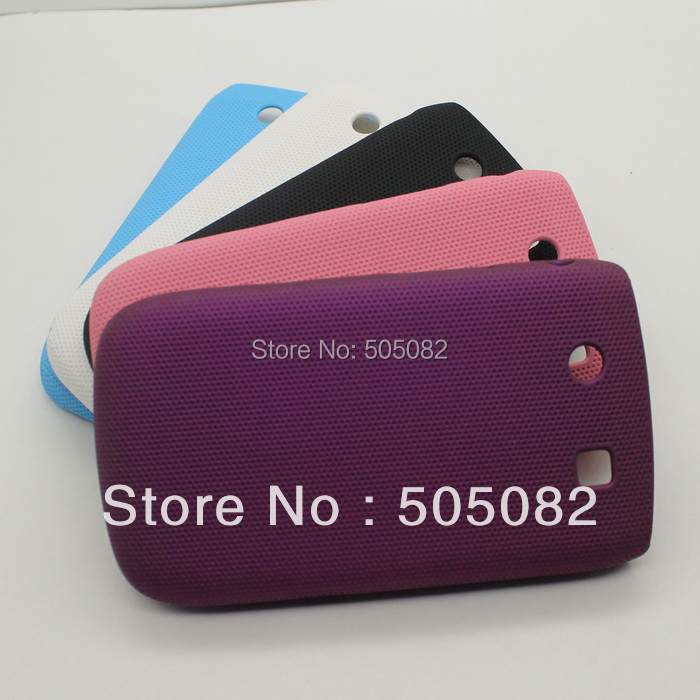 mesh High quality Back Hard Case skin Cover for Blackberry Bold Touch 9800 black/ sky blue/pink/white/purple+free shipping(China (Mainland))