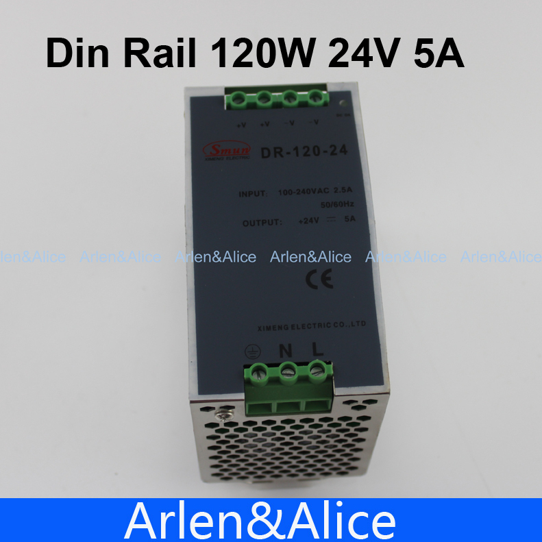 120W 24V  Din Rail Single Output Switching power supply
