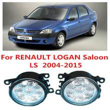 Renault LOGAN Saloon LS 2004-2015 Car Styling LED Fog Lamps Refit Blue:10000K White:6000K Yellow:4300K 12V fog lights - Lei MeNg AuTO NO. 1 store