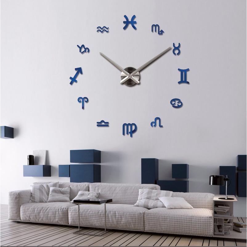 2016 new arrival large brand big digital wall clock modern design home decor Living Room quartz watch large clocks free shipping(China (Mainland))